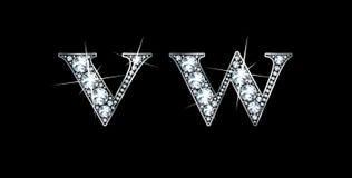 Diamant V et W Photographie stock