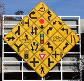 Diamant-Verkehrszeichen Stockfotos