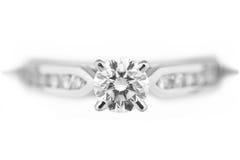 Diamant-Verlobungsring Lizenzfreies Stockbild