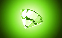 Diamant vert de source - illustration 3D Photos libres de droits