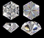 Diamant zes ster Royalty-vrije Stock Foto