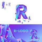 Diamantbuchstabelogo R lizenzfreie abbildung