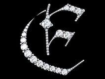 Diamantbuchstaben mit Edelsteinen Lizenzfreie Stockfotografie