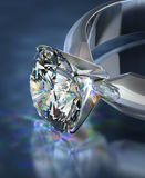Diamantcirkel vektor illustrationer