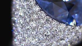 Diamantcirkel, inte 3D, det videopn skjuta för ` s endast tät extreme upp Stor blå gemstone lager videofilmer