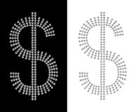Diamantdollar Stockbild