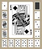 Diamantdräkt som spelar kort Arkivbild