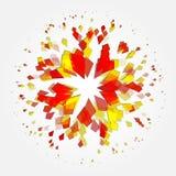 Diamante abstracto de la partícula de la explosión en un fondo blanco Fotografía de archivo libre de regalías