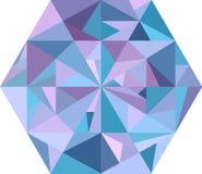 Diamante abstracto en blanco Imagenes de archivo