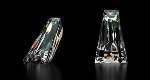 Diamante afilado del corte del Baguette stock de ilustración