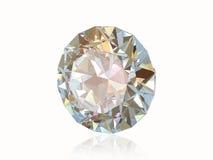 Diamante aislado en la parte posterior del blanco. Vista delantera. Imágenes de archivo libres de regalías