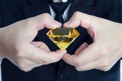 Diamante amarillo enorme Fotografía de archivo libre de regalías