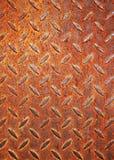 Diamante arrugginito di piastra metallica Immagine Stock