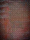 Diamante arrugginito di piastra metallica Fotografia Stock Libera da Diritti
