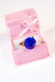 Diamante azul. Imagem de Stock