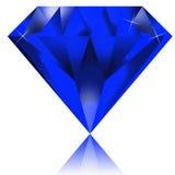 Diamante azul ilustração do vetor