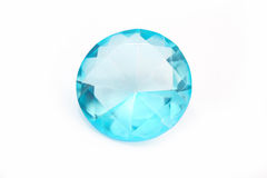 Diamante azul aislado Imagenes de archivo