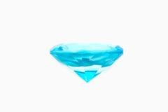 Diamante azul aislado Imágenes de archivo libres de regalías
