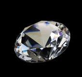Diamante bianco, brillante, di cristallo, gemma Fotografie Stock Libere da Diritti