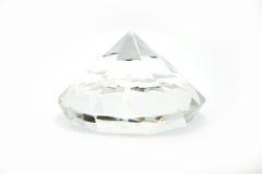 Diamante bianco isolato Fotografia Stock Libera da Diritti
