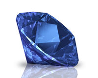 Diamante blu Immagini Stock Libere da Diritti