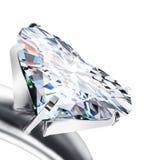 Diamante brilhante do coração do corte Imagens de Stock