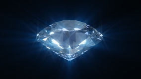 Diamante brillante azul de giro stock de ilustración