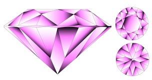 Diamante brillante rotondo del taglio di vettore Immagine Stock Libera da Diritti