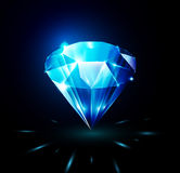 Diamante brillante su fondo scuro Fotografie Stock Libere da Diritti
