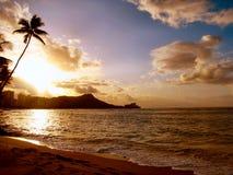 Diamante cabeça-Havaí Foto de Stock Royalty Free