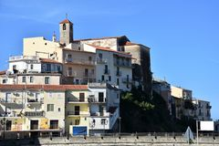 Diamante, in Calabria,  village of Murales royalty free stock photo