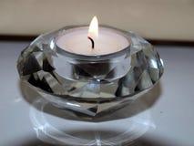 Diamante candle. Cute diamante candle ready for nice dinner stock photos
