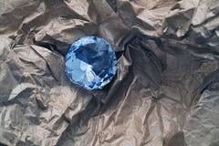 Diamante in carta marrone Fotografia Stock