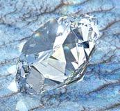 Diamante com luz cáustica na areia ilustração do vetor