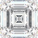 diamante costoso dei gioielli della pietra preziosa bianca dello zoom dell'illustrazione 3D illustrazione di stock