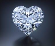 Diamante 3D isolado em um escuro - fundo cinzento ilustração do vetor