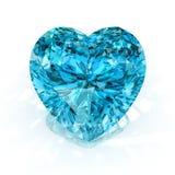 Diamante da forma do coração Imagem de Stock
