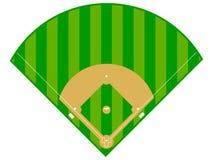 Diamante de basebol Fotografia de Stock Royalty Free