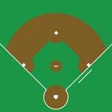 Diamante de béisbol Fotos de archivo libres de regalías