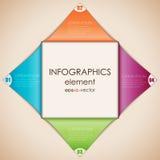 Diamante de Infographics Imagens de Stock