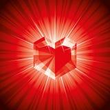 Diamante de la tarjeta del día de San Valentín Imagen de archivo libre de regalías