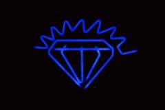 Diamante de néon fotografia de stock royalty free