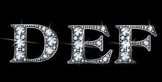 Diamante DEF Fotos de archivo