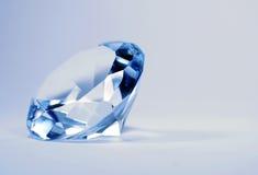 Diamante del azul de Brillian Imágenes de archivo libres de regalías