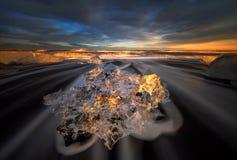 Diamante del ghiaccio Fotografia Stock