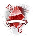 Diamante del póker Imagenes de archivo
