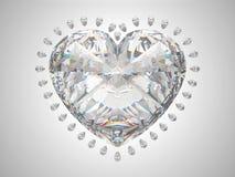 Diamante del taglio del grande cuore Fotografia Stock Libera da Diritti
