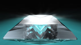 Diamante del taglio della principessa Fotografia Stock