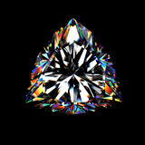 diamante del triangolo 3d sul nero Immagine Stock