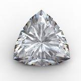 diamante del triangolo 3D sul nero Fotografie Stock